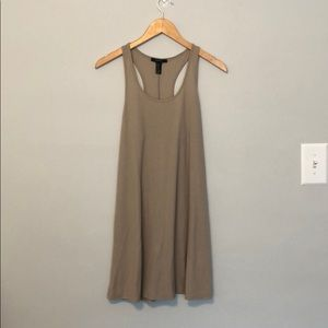 Basic tan summer dress
